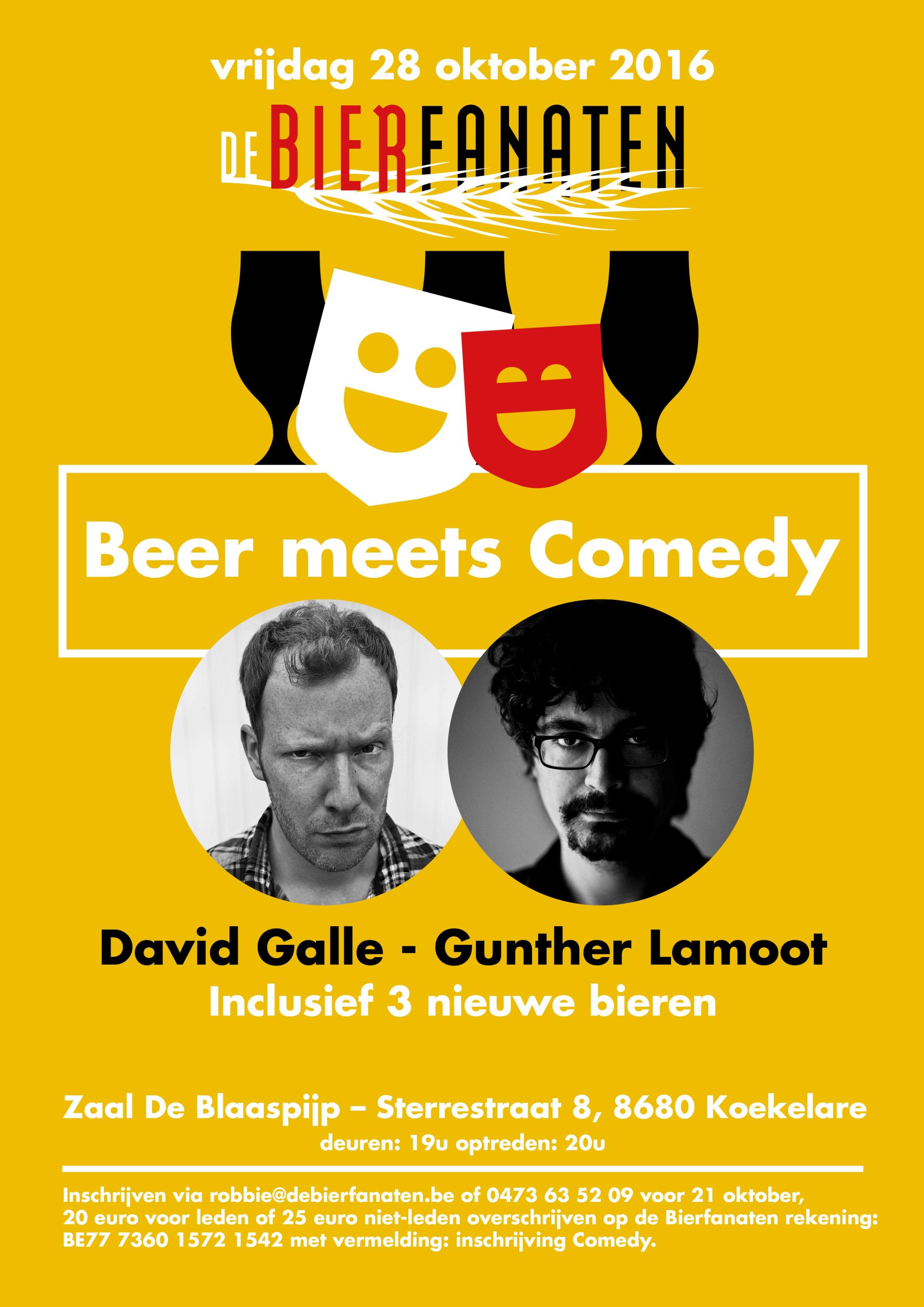 vzw De Bierfanaten Beer Meets Comedy