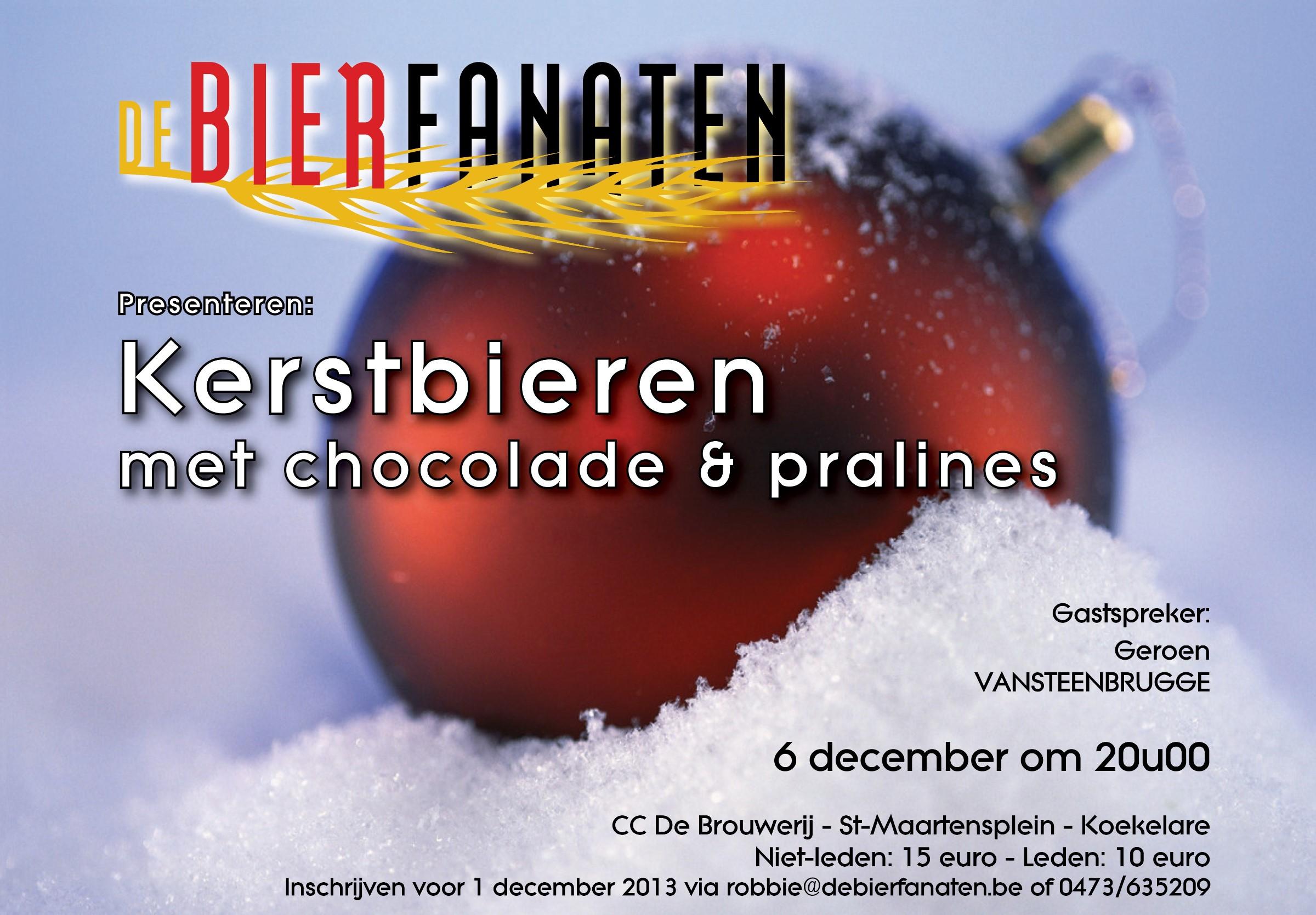 vzw De Bierfanaten Kerstbieren Chocolade