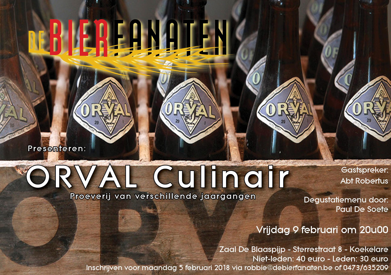 vzw De Bierfanaten Orval Culinair